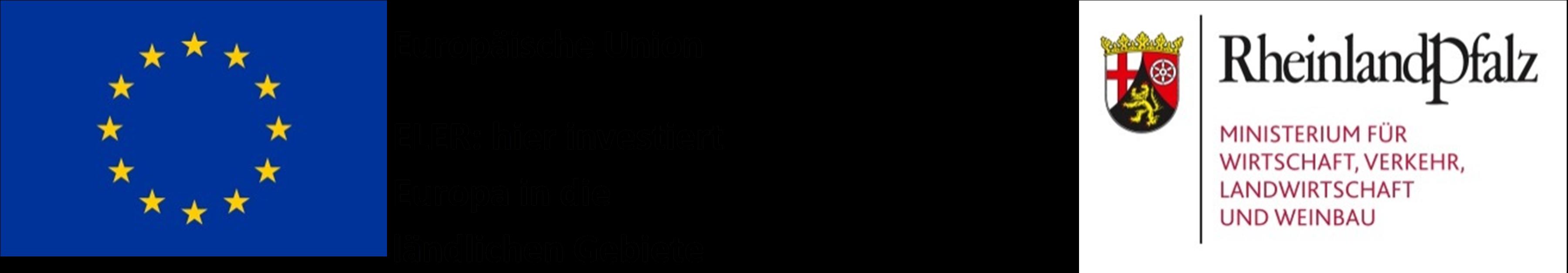 Logo EU ELER und Land Rheinland-Pfalz Ministerium für Wirtschaft, Verkehr, Landwirtschaft und Weinbau